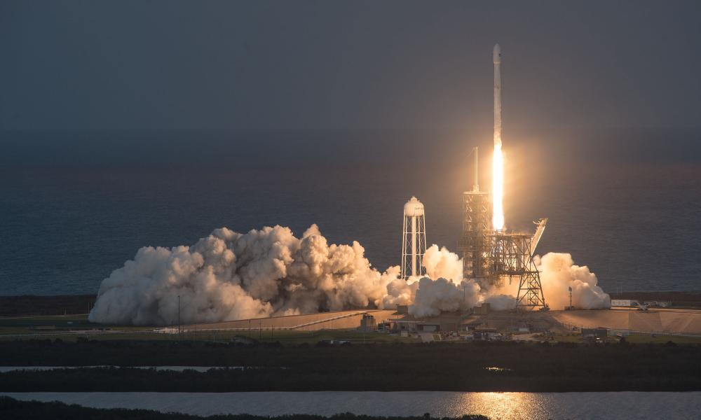 The SpaceX Falcon 9 lifting off in Florida on 11 October this year.