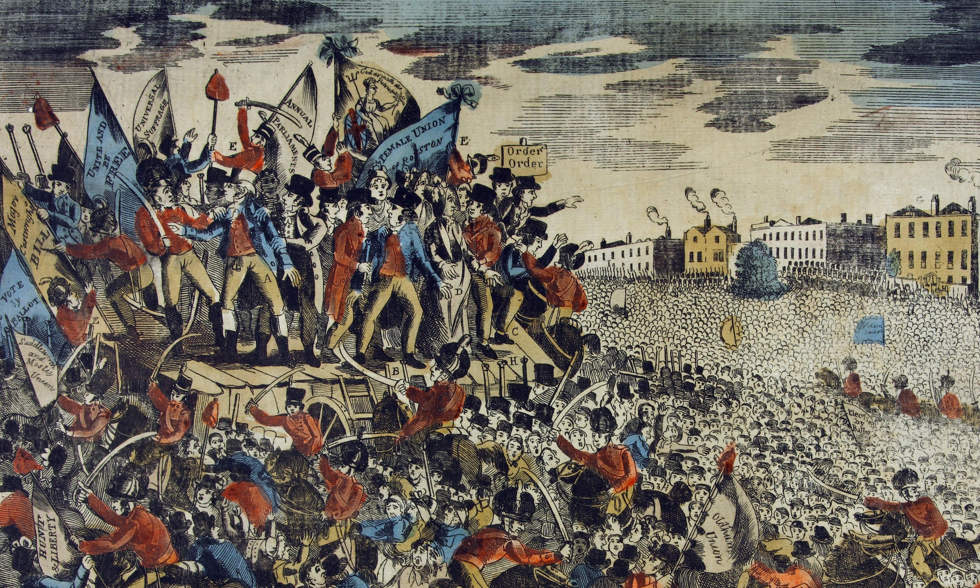 'Several lives lost': note reveals early details of Peterloo massacre