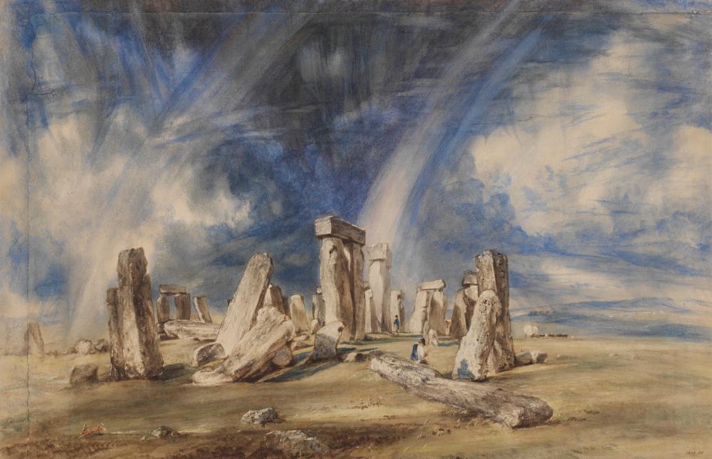 Constable's painting Stonehenge, c.1835.