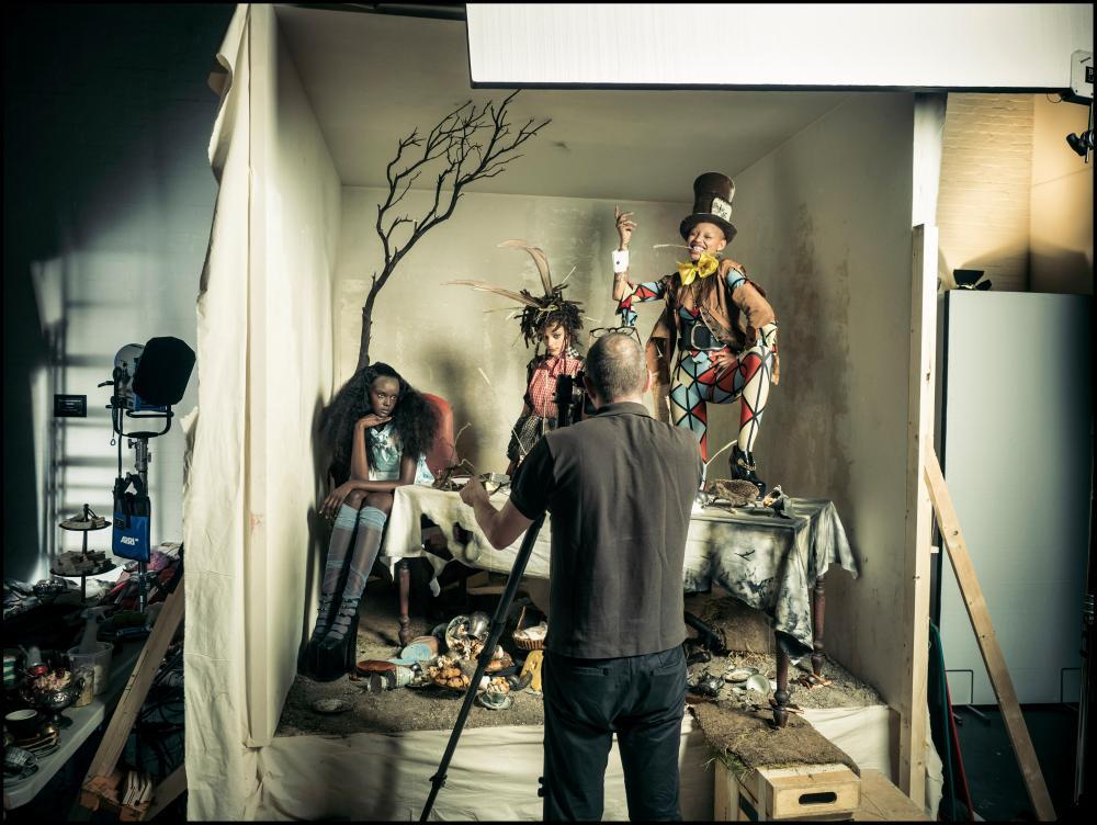 Tim Walker shooting Duckie Thot, Slick Woods and Sasha Lane.