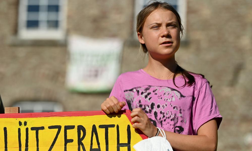 Swedish climate activist Greta Thunberg spoke in Luetzerath, Germany, against the expansion of a coal mine.