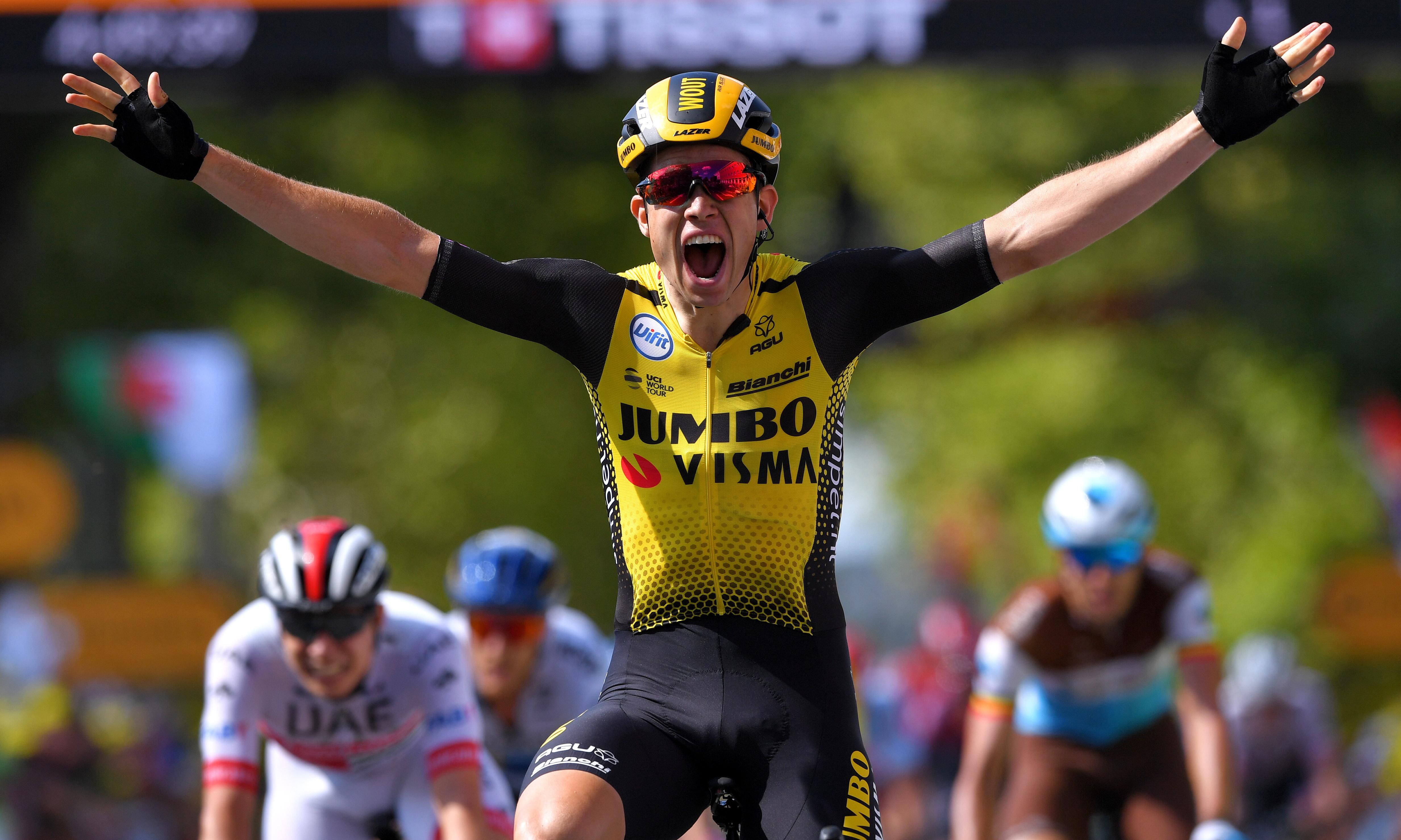 Van Aert sprints to stage but Thomas the big winner on Tour day of chaos