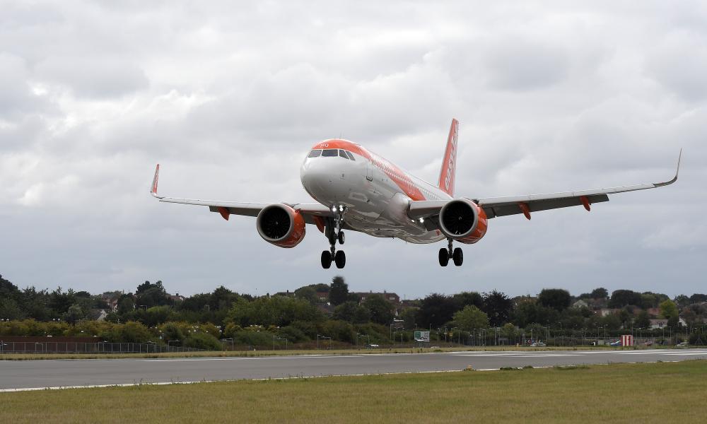 An EasyJet aircraft.