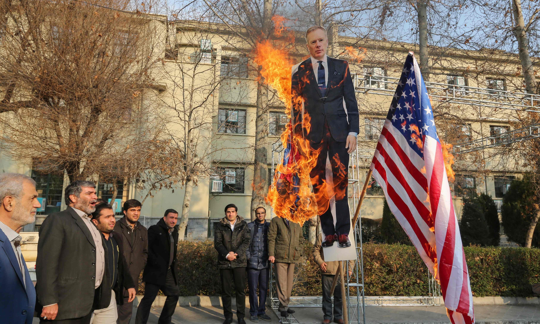 Iran calls for UK ambassador to be expelled as arrests made over plane crash