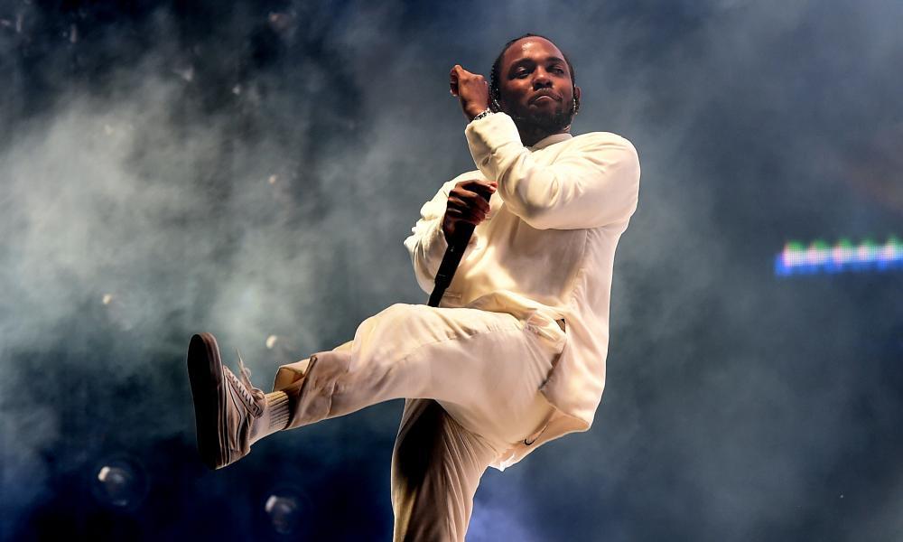 Kendrick Lamar performing at Coachella in April.