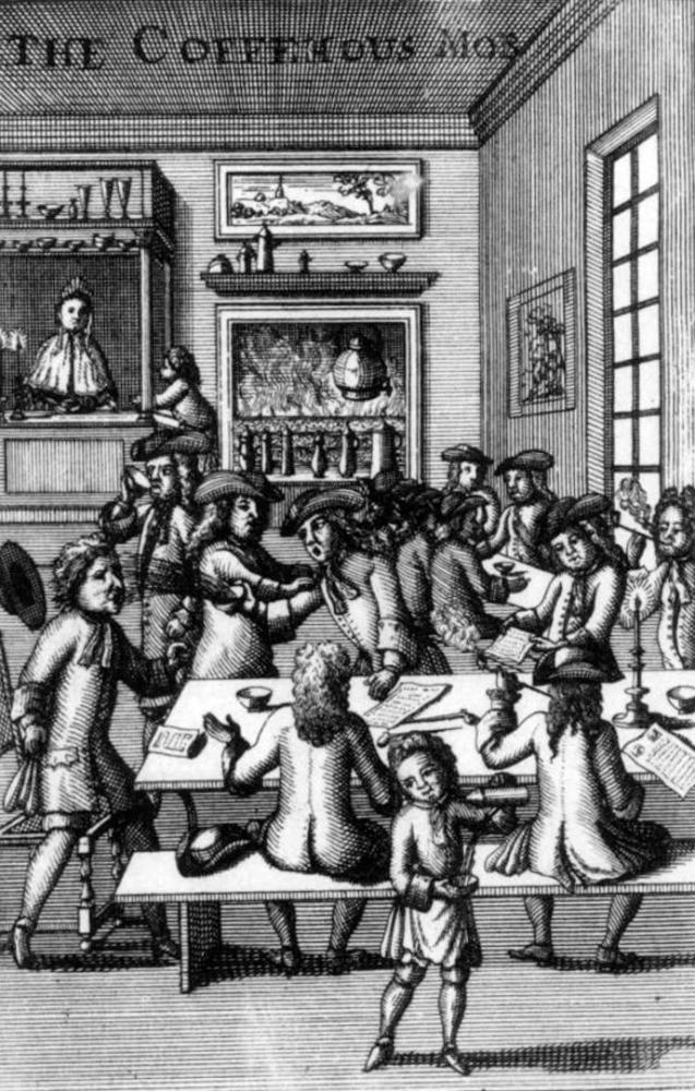 A 17th-century coffeehouse mob