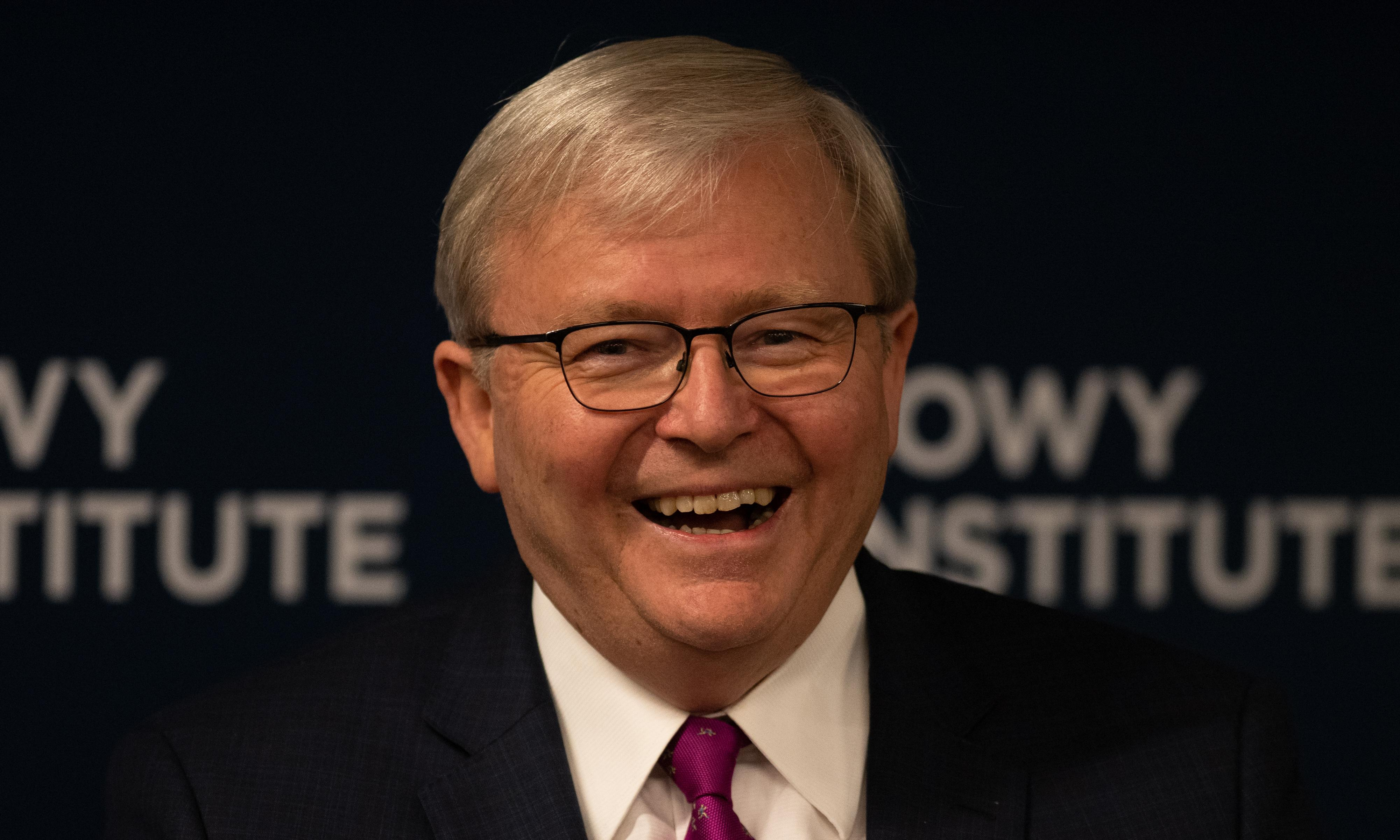 Turnbull 'nuttiness' to blame for bad relationship with China, Kevin Rudd says