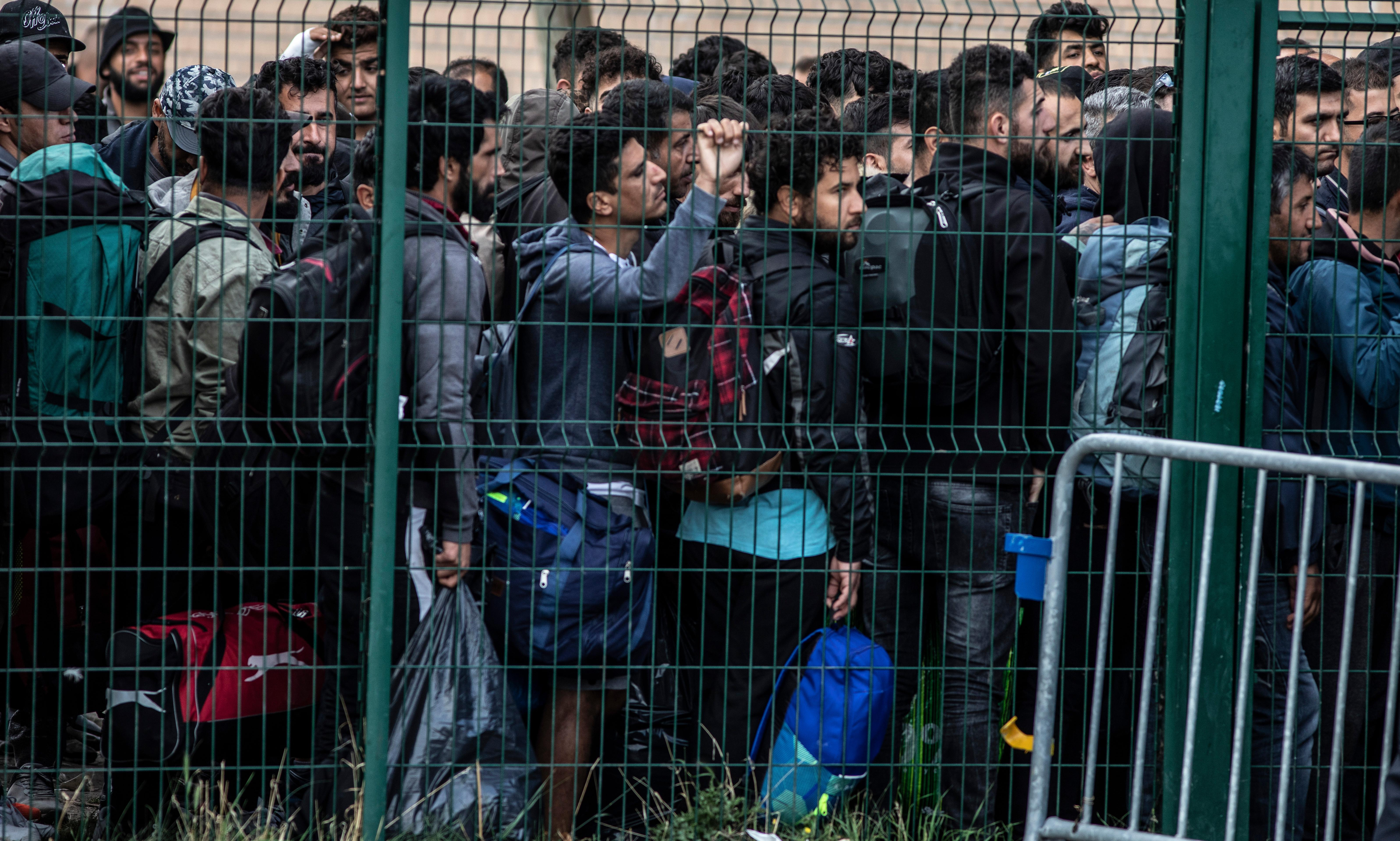 French police clear 'security hazard' migrant camp