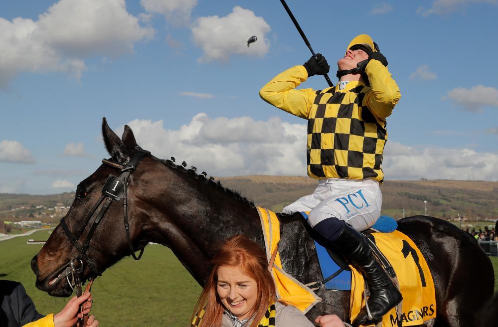Paul Townend celebrates victory on Al Boum Photo.