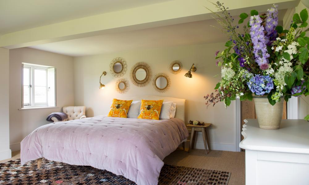 Bedroom at 42 Acres, Somerset