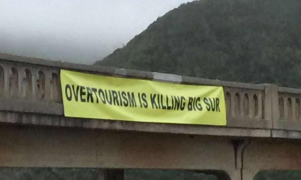 'Overtourism is killing Big Sur': activists raise banner in California vacation spot