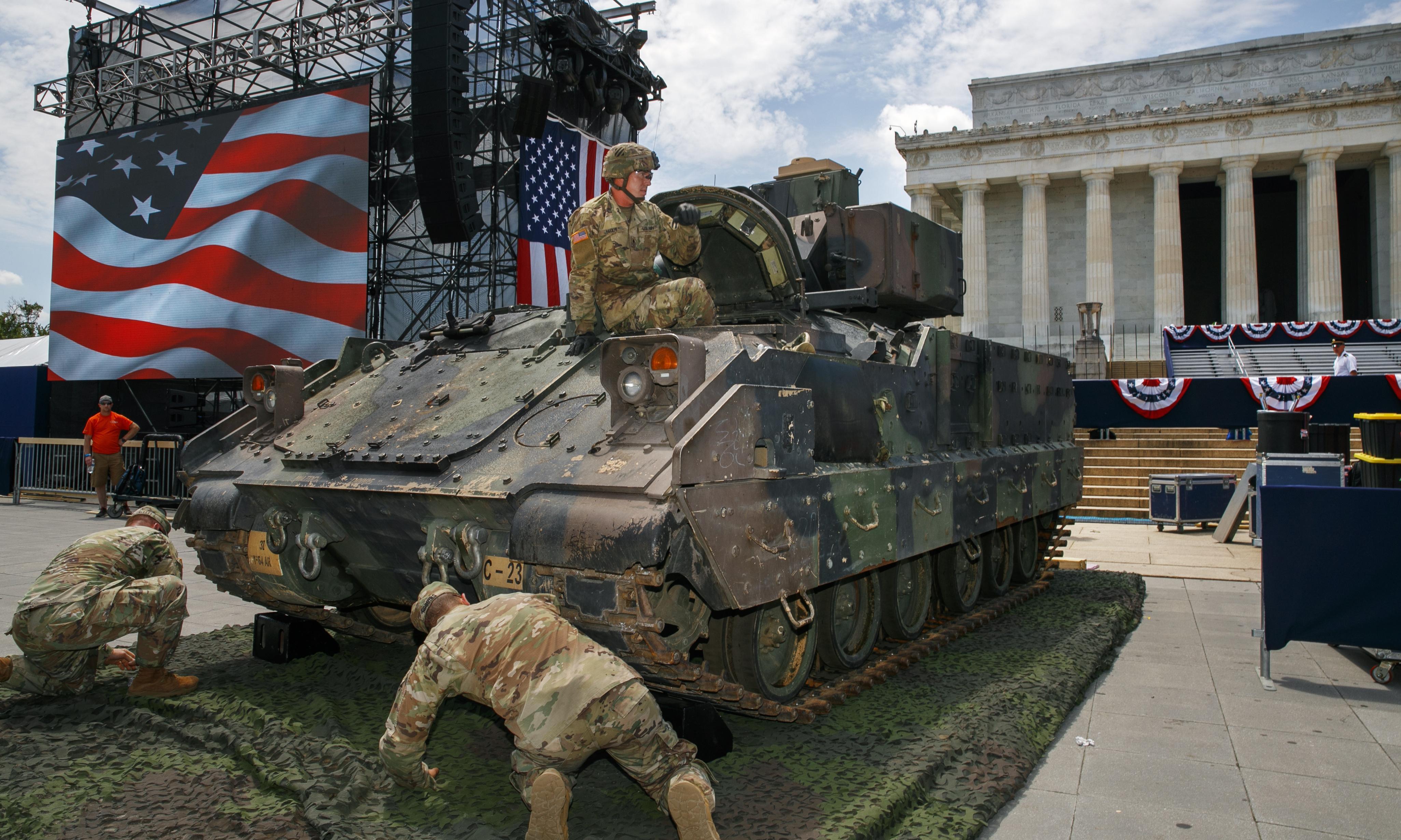 'A narcissistic travesty': critics savage Trump's Independence Day jamboree