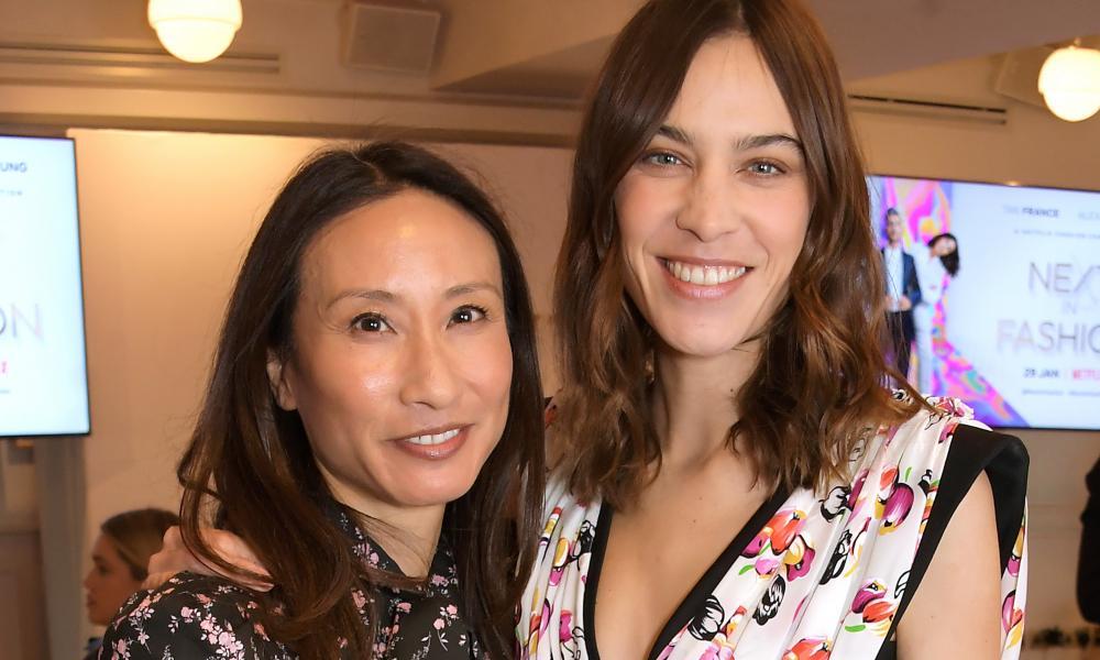 Elizabeth von der Goltz with Alexa Chung