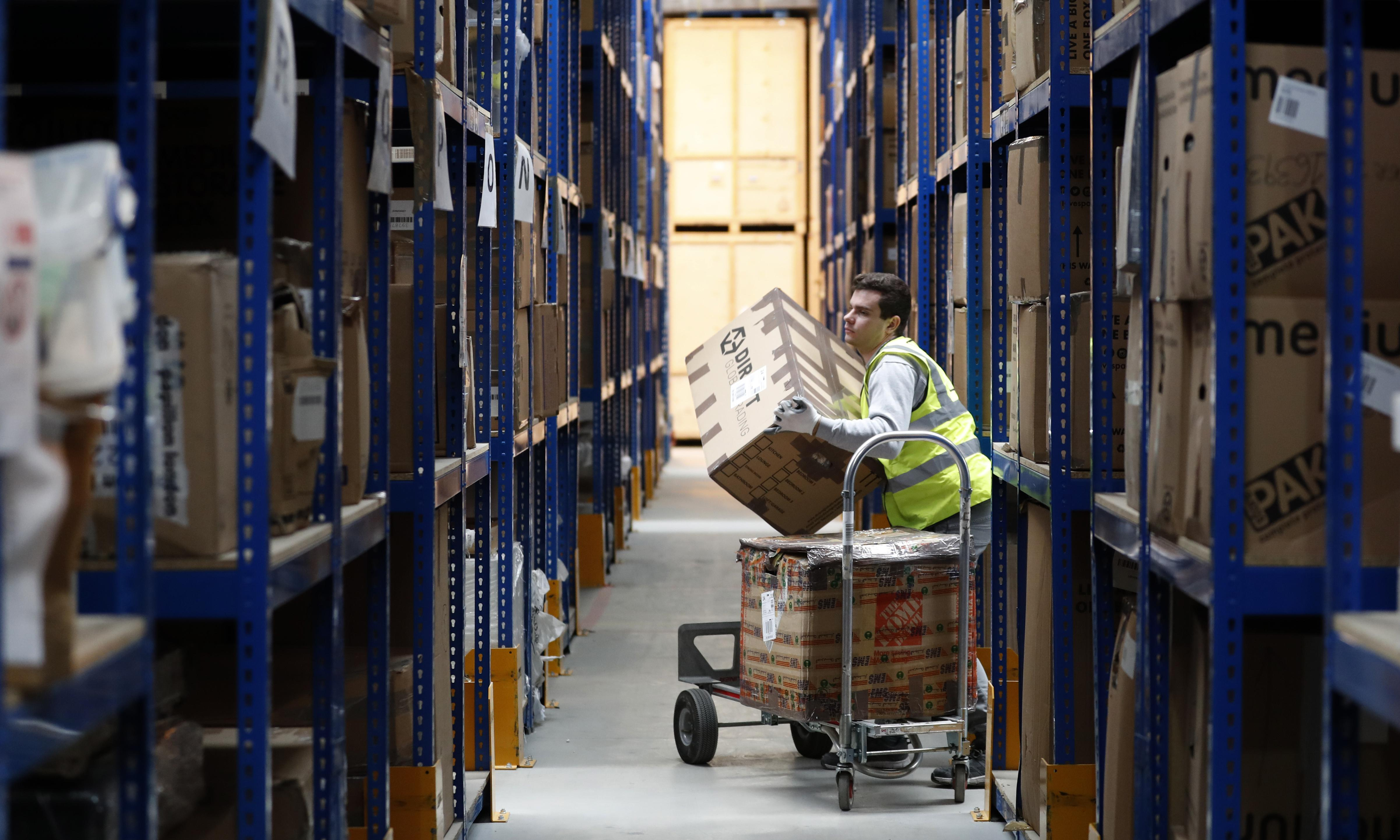 Brexit stockpiling by UK retailers and wholesalers reaching 2008 levels, says CBI