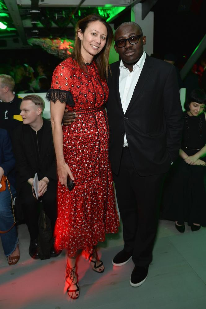 Show attendees Caroline Rush and Edward Enninful.