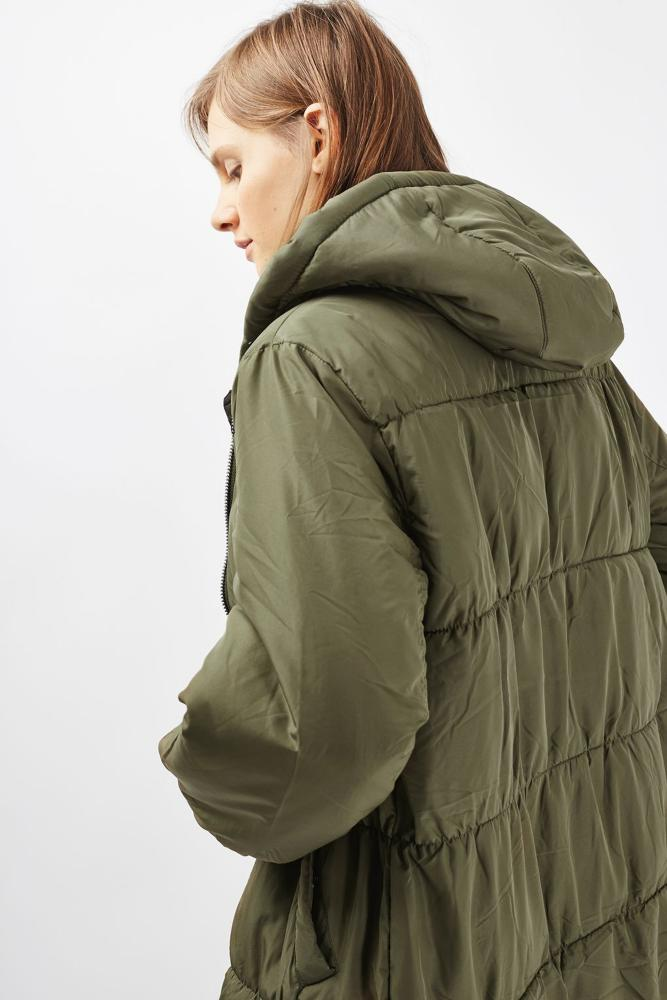 A 'kale' quilted jacket from Topshop.