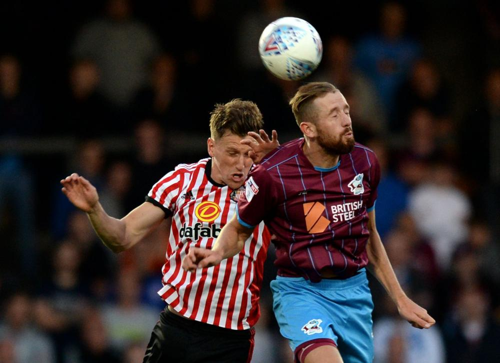 Kevin van Veen in action against Sunderland in a pre-season friendly.