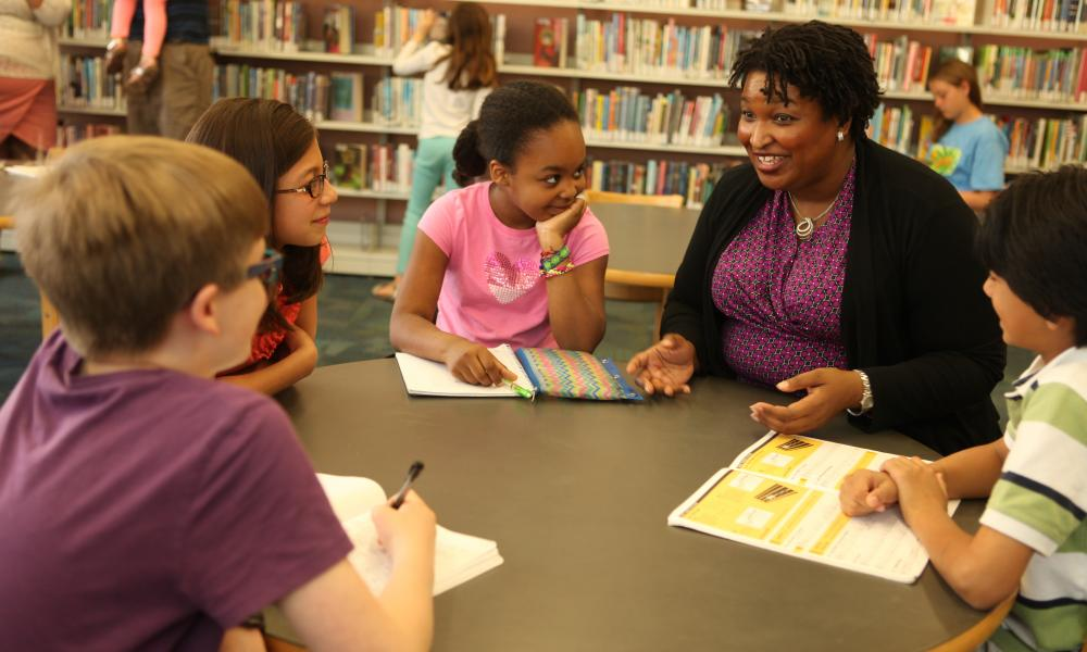 stacey abrams with kids