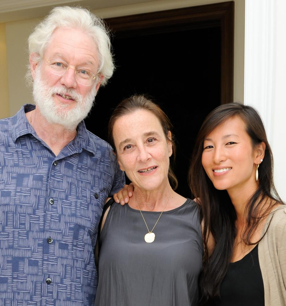 Arthur Sackler, Laurie Sackler, Neoma Sackler on 24 February 2017 in Wellington, Florida.