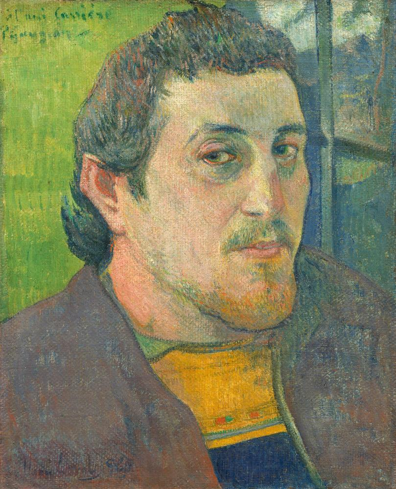 Self-Portrait Dedicated to Carrière, 1888 or 1889, by Paul Gauguin