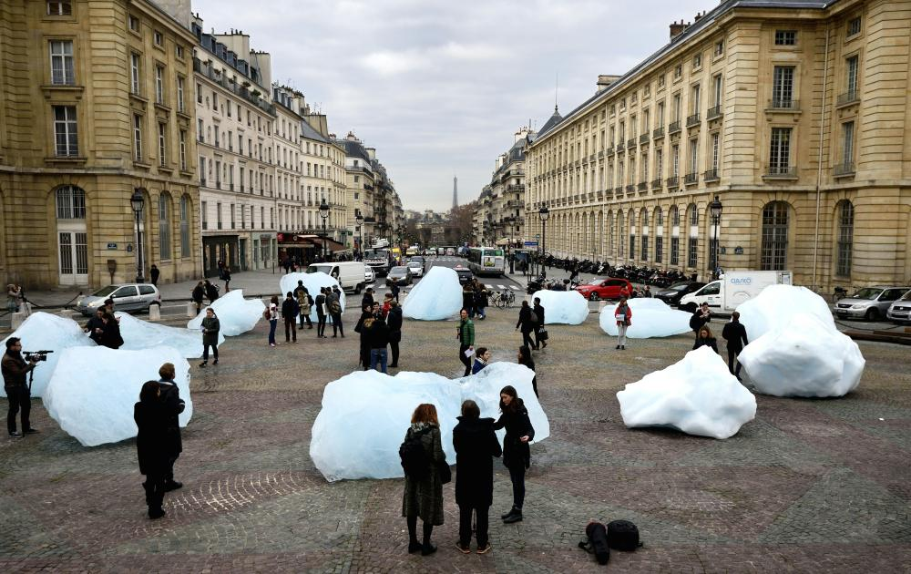 Eliasson's Ice Watch,  Paris, December, 2015