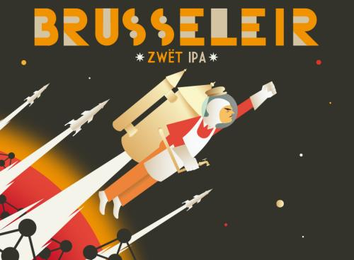 Label for Brasserie de la Senne's Brusseleir beer.