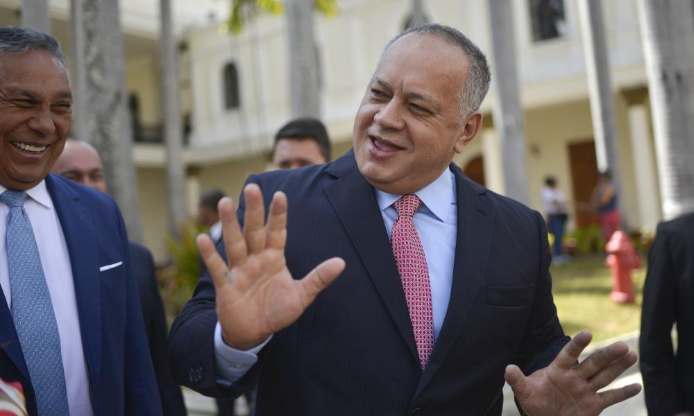 Diosdado Cabello in Caracas, Venezuela in January.