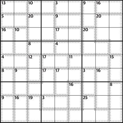 Killer sudoku 651