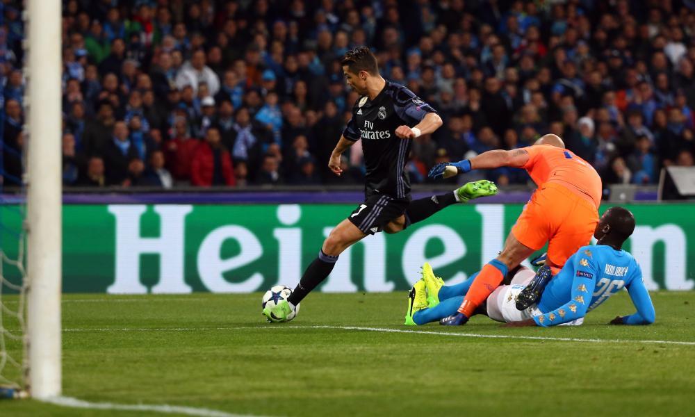 Close but no cigar for Real Madrid's Cristiano Ronaldo.