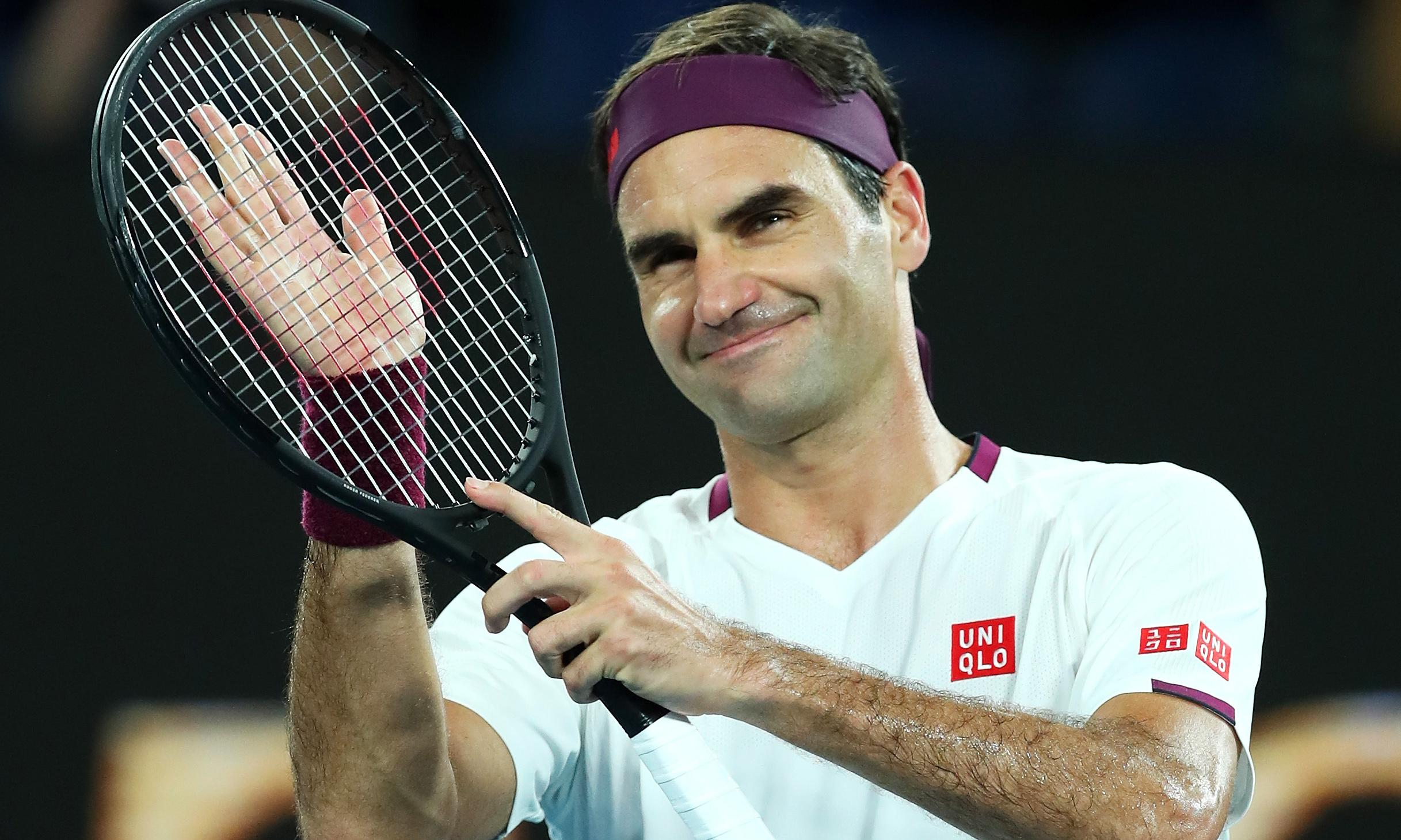Roger Federer survives scare to set up Australian Open meeting with Sandgren