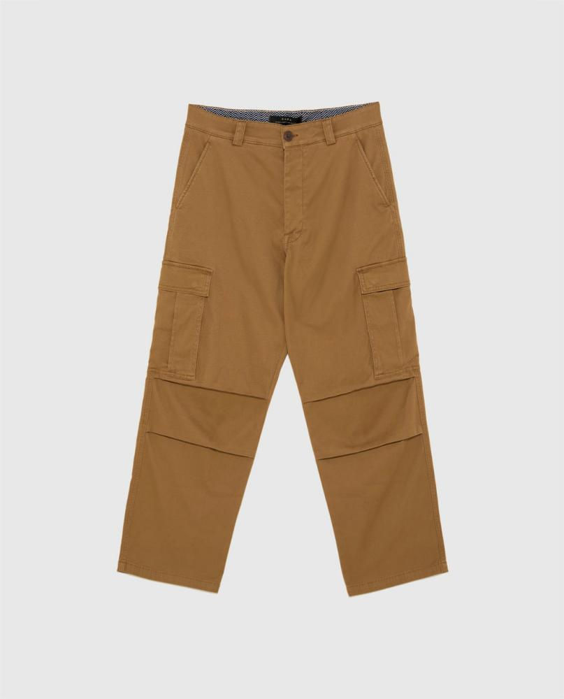 Wide-leg cargo trousers, Zara, £29.99