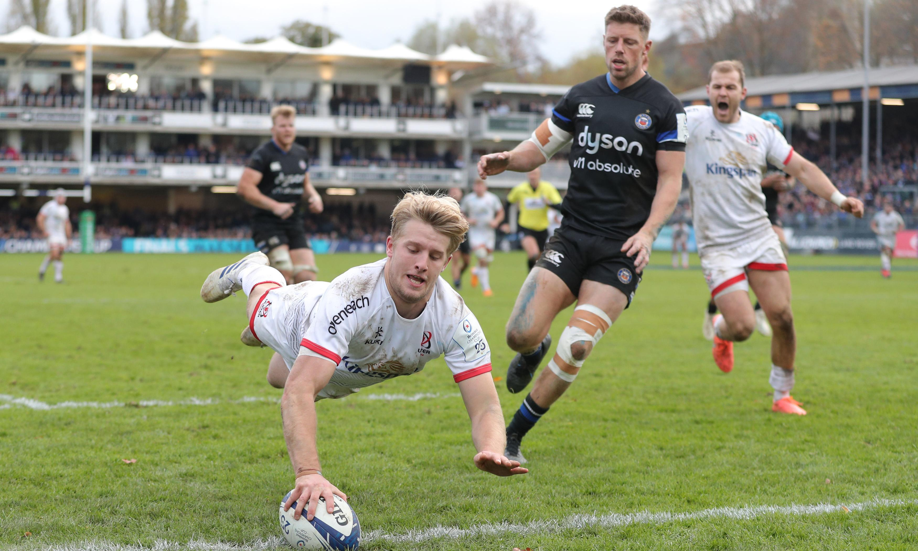 Jacob Stockdale helps Ulster hang on for hard-fought victory at Bath