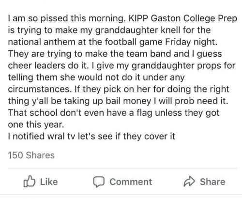 The Facebook message that went viral around Gaston.