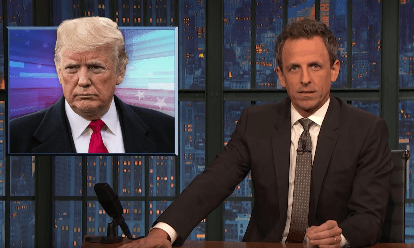Seth Meyers: Trump is 'a conspiracy theorist who makes up cartoonish lies'