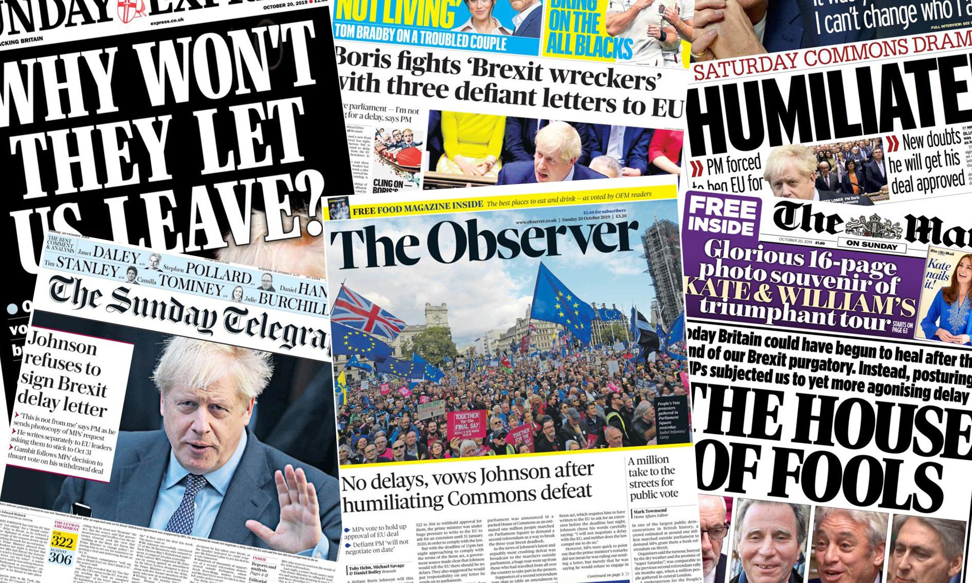 'House of fools': how the papers covered Johnson's latest Brexit defeat