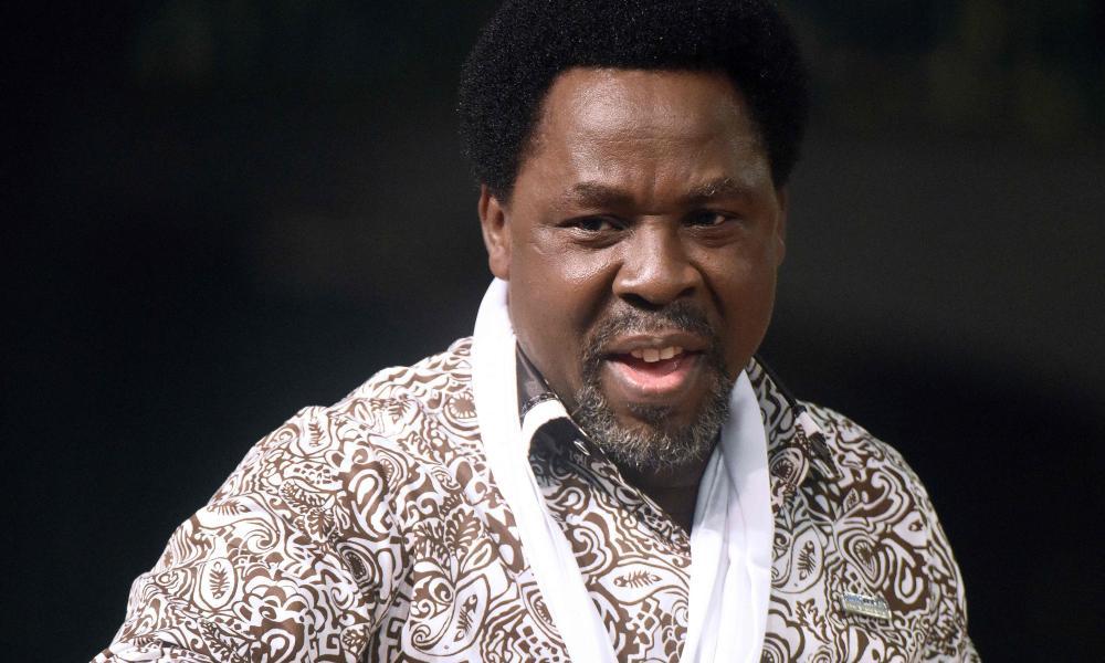 Nigerian pastor TB Joshua on New Year's Day in 2015.