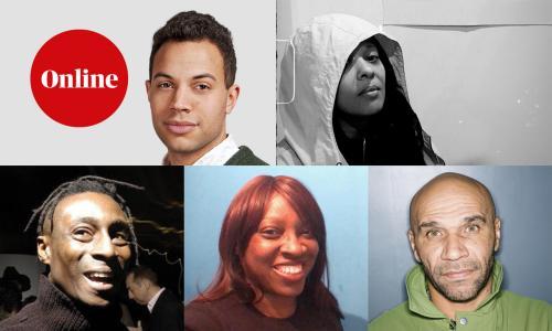 Composite image, Lanre Bakare, DJ FLight, Brian Belle Fortune, Julia Toppin and Goldie.