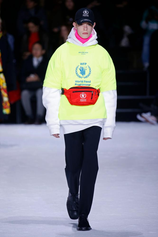 Balenciaga collaborated with the World Food Programme on baseball caps, bumbags and T-shirts
