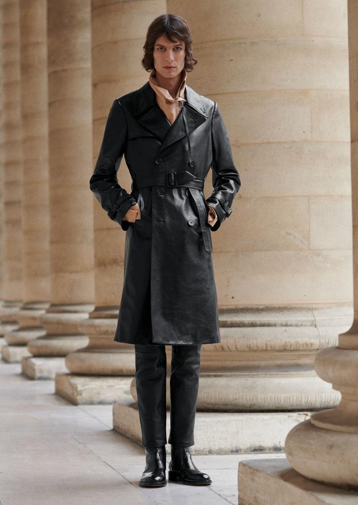 A leather trenchcoat by Givenchy.