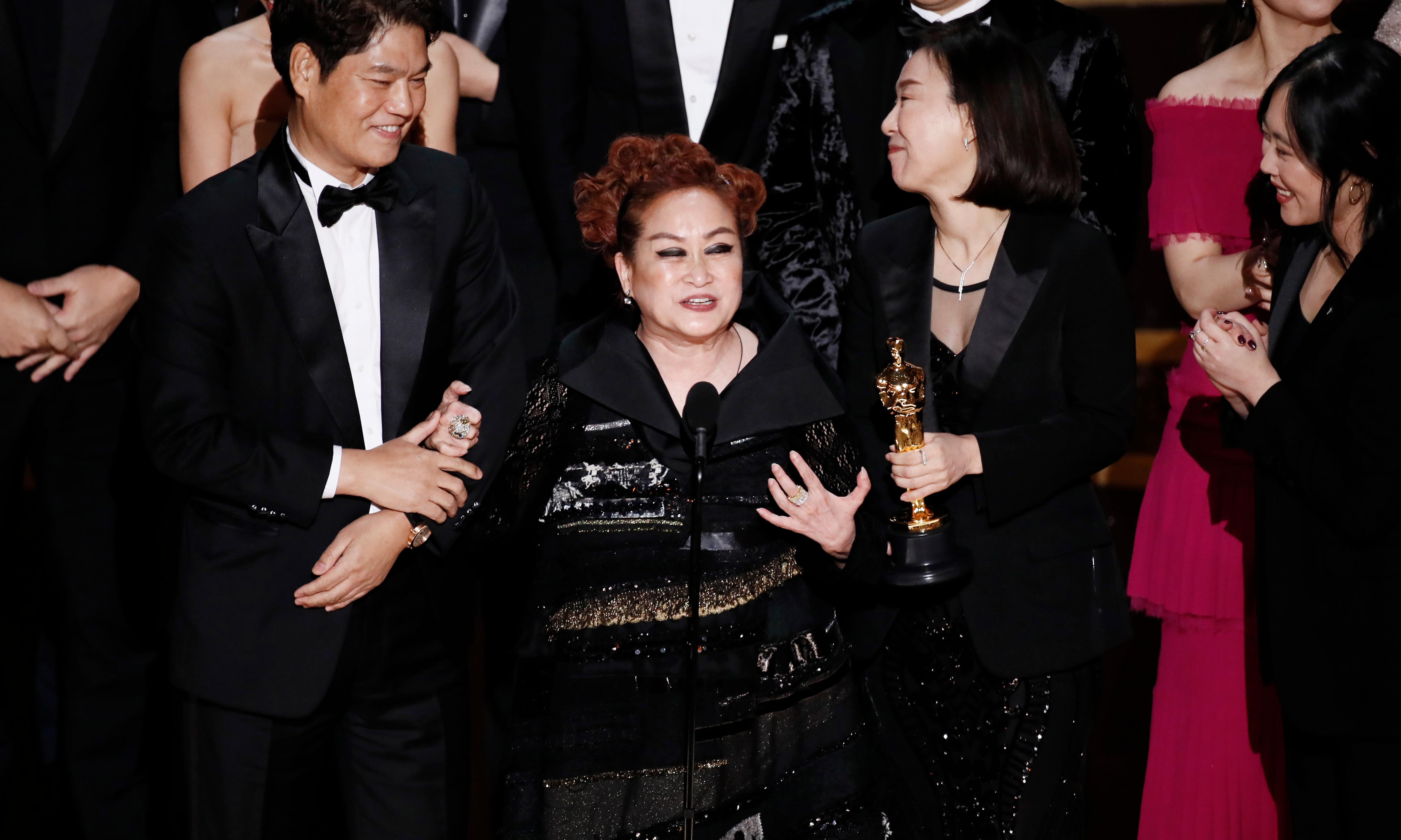 Parasite makes Oscars history as first foreign language winner of best picture