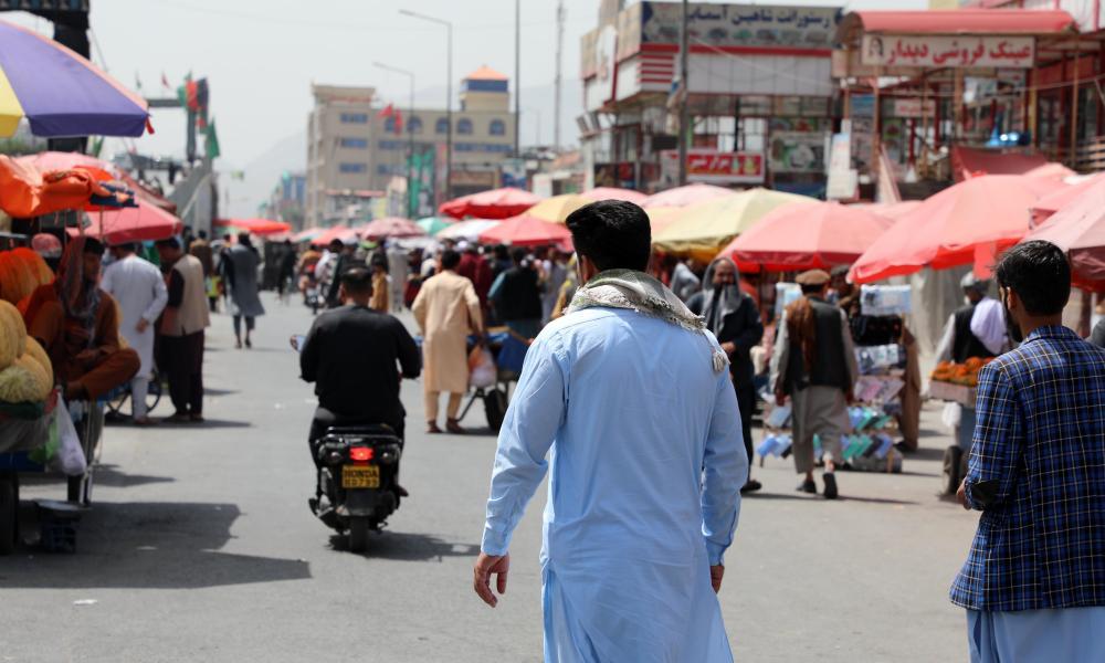 a street scene in kabul