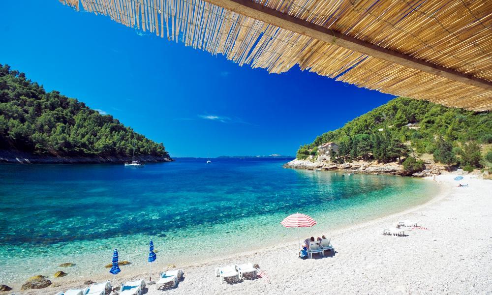 Pupnatska Luka beach, Korcula island, Dalmatia, Croatia