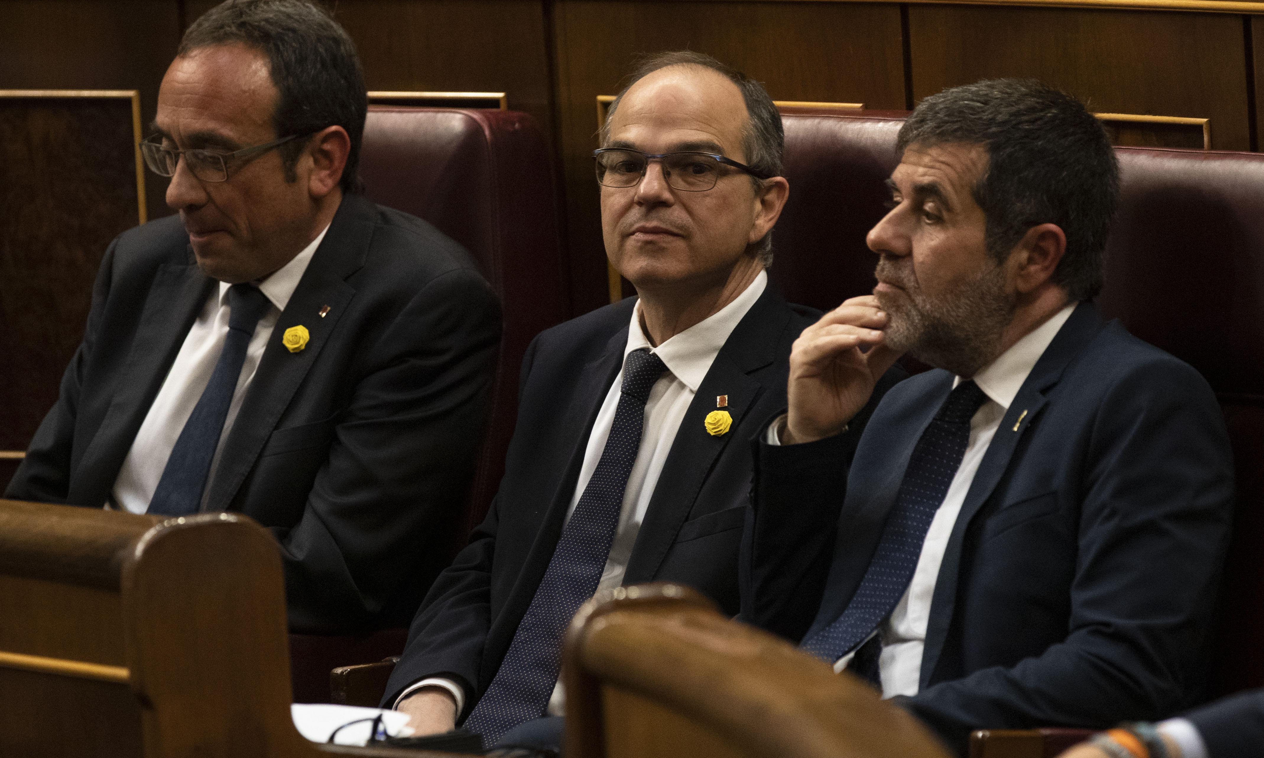 Jailed Catalan separatists take seats in Spanish parliament