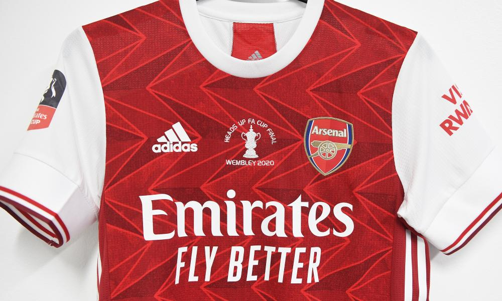 Arsenal's cup-final shirt.