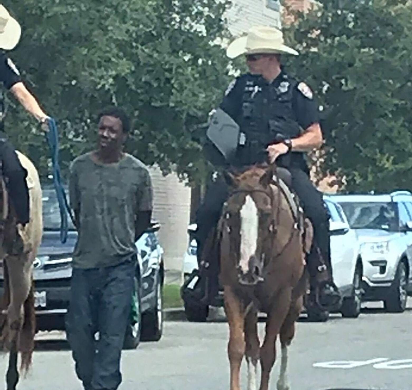 White officers in Texas who led black man on rope avoid criminal charges