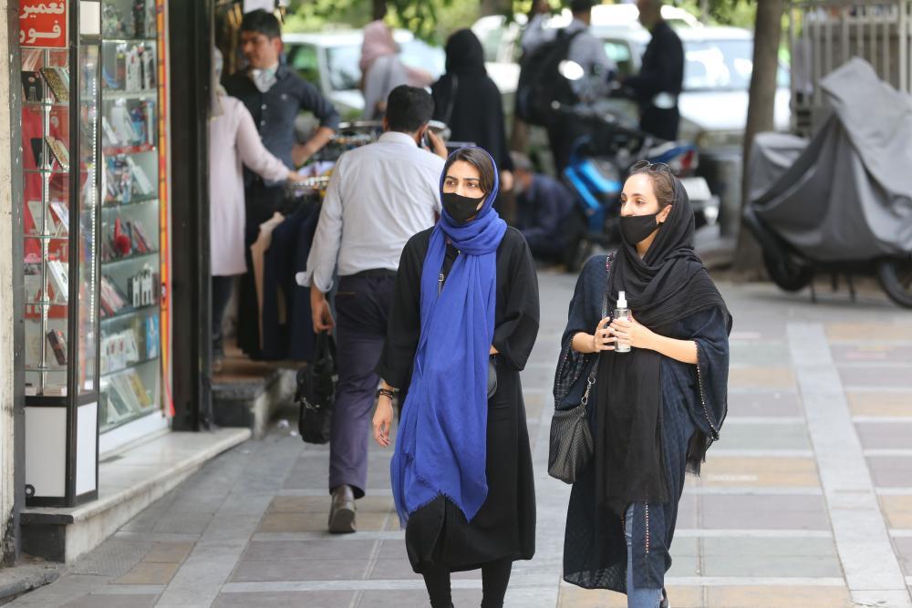 Women in Valiasr Square, Tehran.