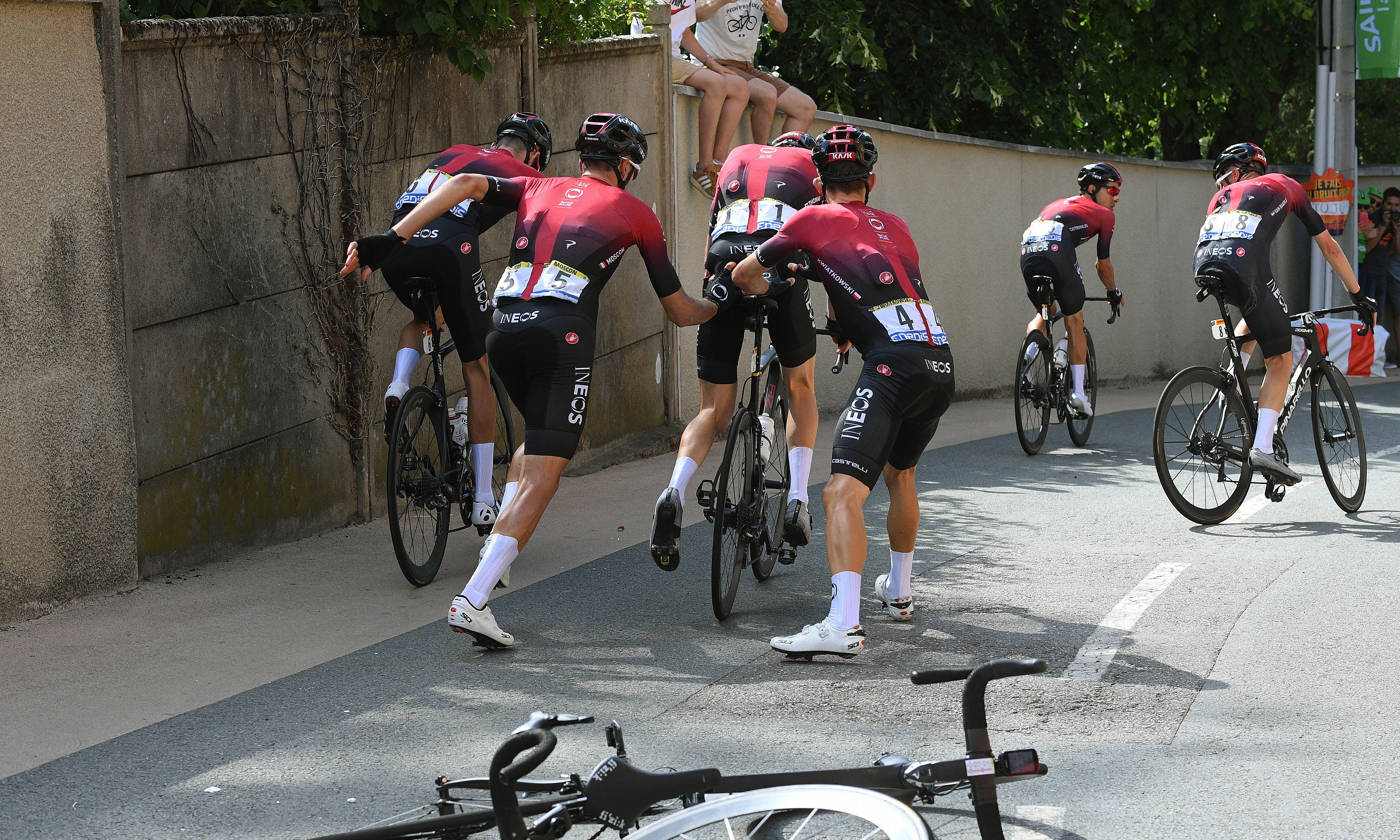 Tour de France diary: Spin from Dave Brailsford, a spill for Geraint Thomas