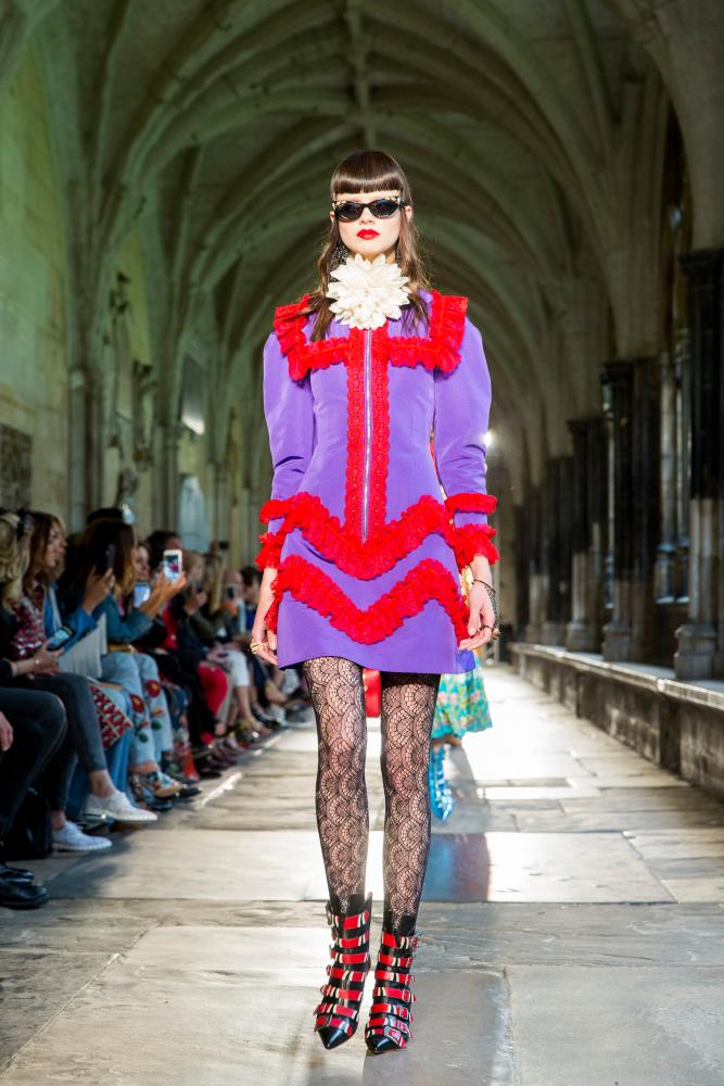 The Gucci Cruise show which took place at Westminster Abbey.