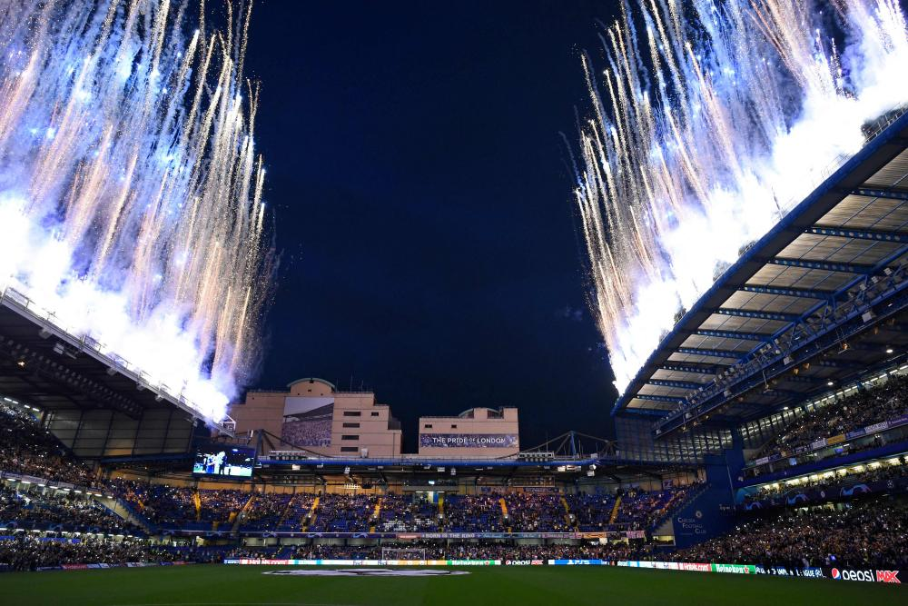 There's some fireworks to entertain the fans at Stamford Bridge too.