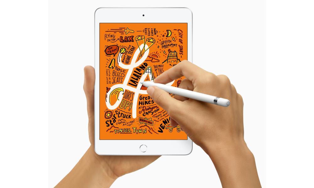iPad Mini with Apple Pencil stylus landscape